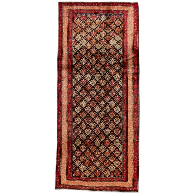 """Vintage North West Persian Rug, 4'5"""" X 10'0"""" For Sale - Image 9 of 9"""