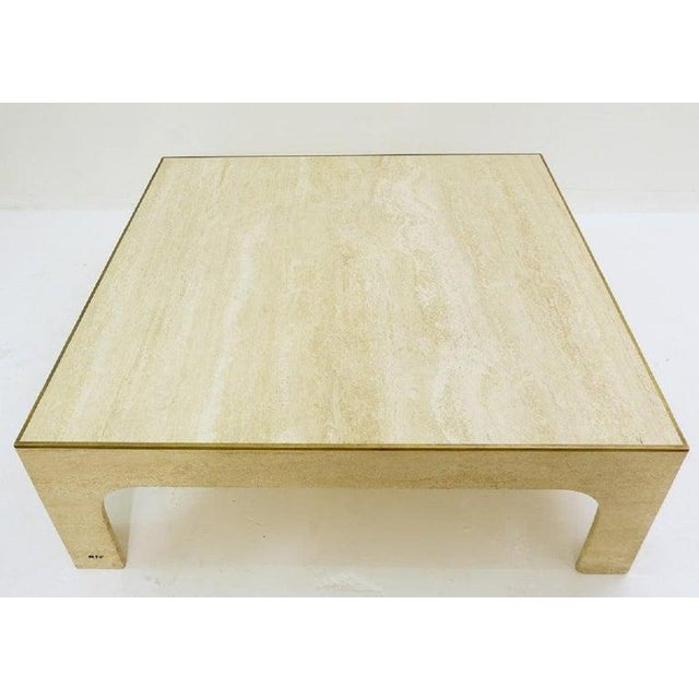 Willy Rizzo Travertine Coffee Table ,1970s