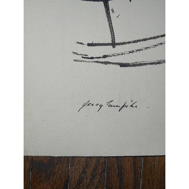 "Original Modernist Drawing by American Artist-Robert Knipschild-""JerseyTurnpike""-Signed/Dated ""1954"" For Sale - Image 4 of 7"