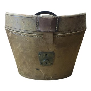 Victorian Leather Top Hat Box For Sale