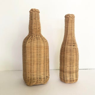 Wicker Wrapped Bottles- a Pair Preview
