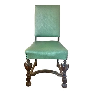Early 20th Century Vintage Renaissance Revival Tall Side Chair - 2 Available For Sale