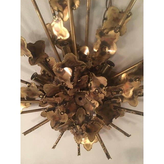 Tom Greene Tom Greene for Feldman Brutalist Torch Cut Wall Light Sconce For Sale - Image 4 of 11