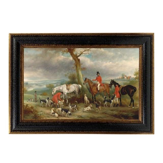 Thomas Wilkinson Hunt Framed Oil Painting Print on Canvas For Sale