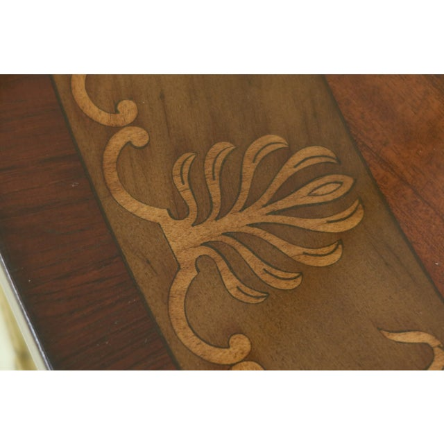 Gorgeous Highly Inlaid Paint Decorated Adam Console Table For Sale In Philadelphia - Image 6 of 12