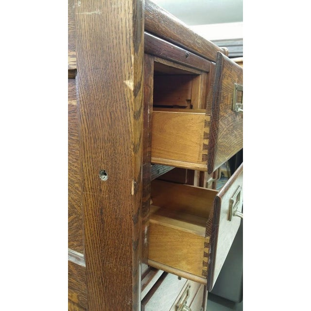 Macey Antique Standing File Cabinet For Sale - Image 5 of 5