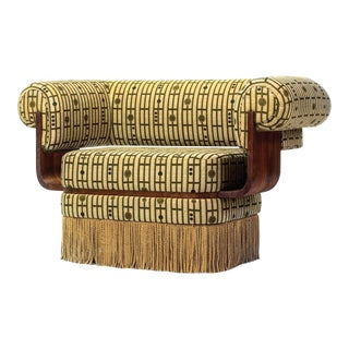 Lulu LaFortune Arm Chair With Fringe For Sale