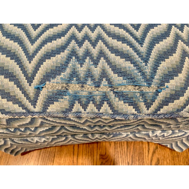 Baker Furniture Company Baker Bargello Skirted Ottoman For Sale - Image 4 of 7