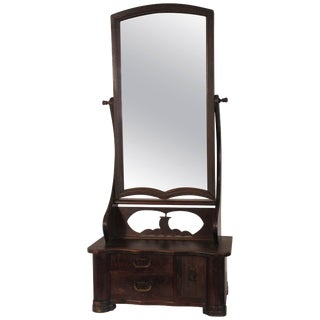 1920s Asian Shaving Mirror With Draws For Sale