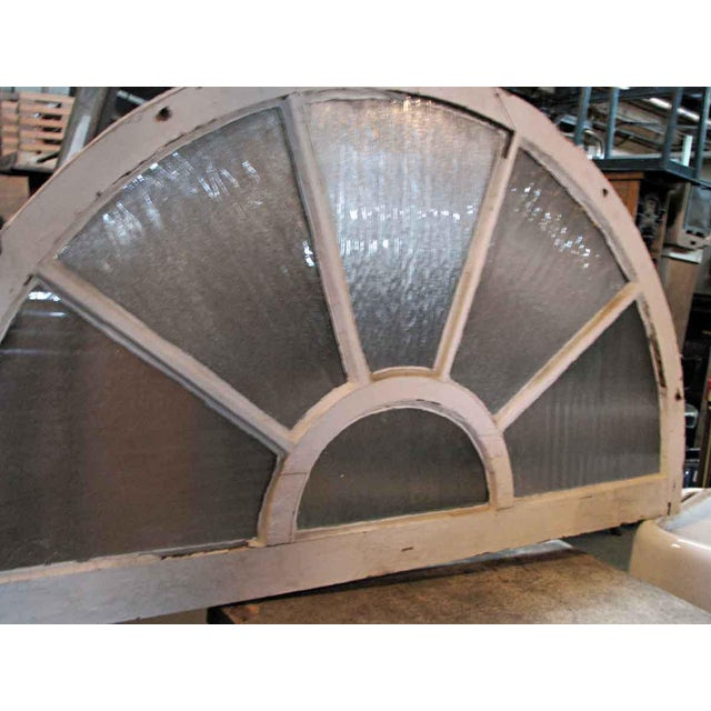 English Traditional Reclaimed Fan Shaped Light Transom For Sale - Image 3 of 5