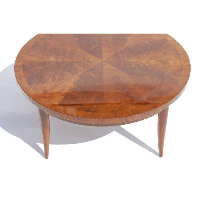 Art Deco Round Cocktail Table For Sale - Image 3 of 6