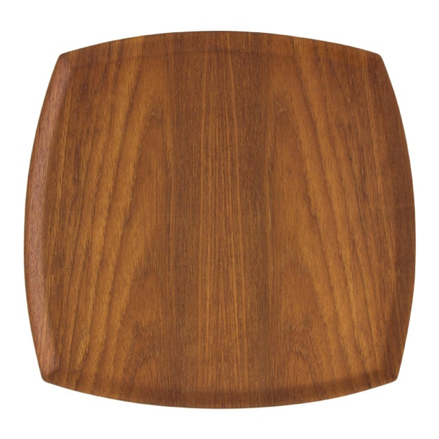 Molded Teak Serving Tray - Image 1 of 5