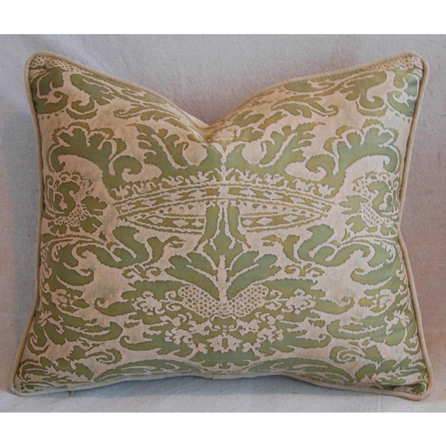 Italian Fortuny Corone Crown Down Pillows - A Pair - Image 6 of 11