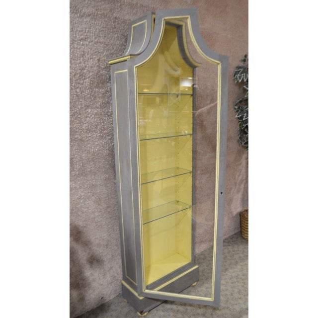 Vintage Distressed Painted Venetian Style Curio Cabinet - Image 7 of 11