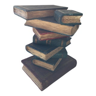 Faux Stacked Books Sculpture For Sale