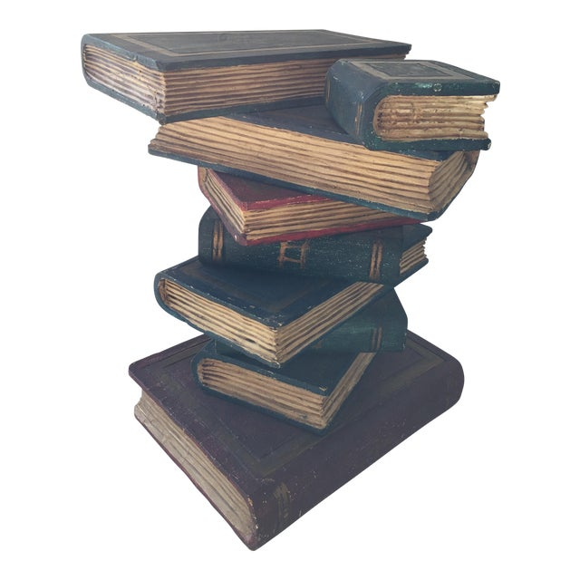 faux stacked books sculpture chairish
