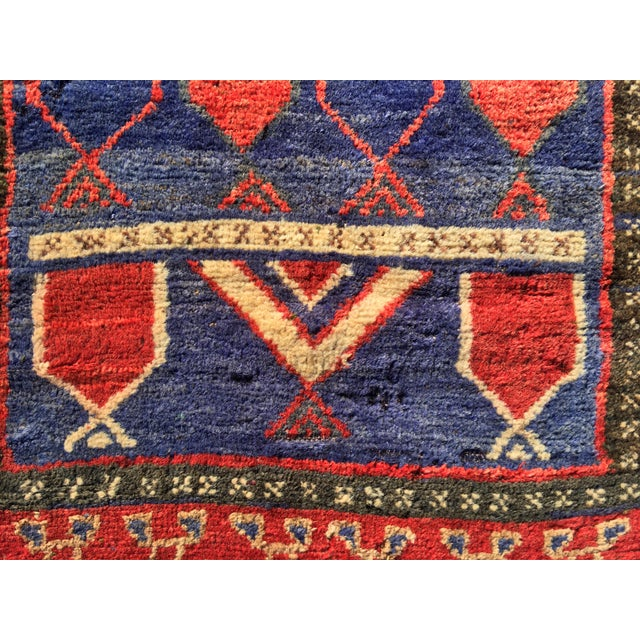 "Vintage Persian Mehebad Small Area Rug - 2'7""x4'3"" - Image 4 of 9"