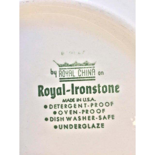 Ironstone China Royal-Ironstone Baghdad 10-Piece Bowls & Plates - Set of 5 For Sale - Image 4 of 8