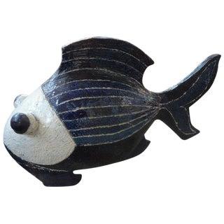 Mid-Century Studio Art Pottery Fish Sculpture