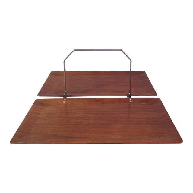 Mid-Century Modern Vintage Folding Serving Tray - Image 1 of 10