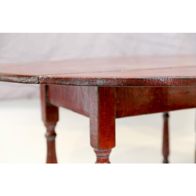 Red Lacquered English Table For Sale - Image 9 of 13