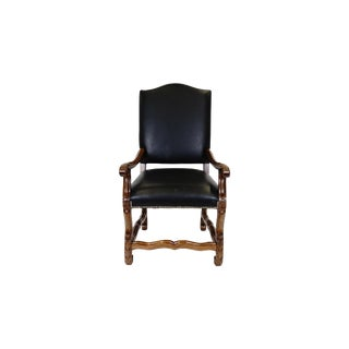 Flori Romani Tuscan Style Leather Armchair For Sale