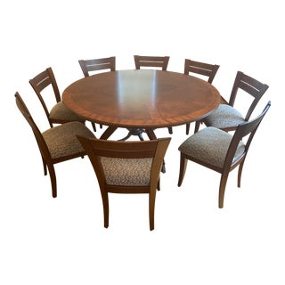 Ernest Hemingway by Thomasville Solid Wood Transitional Dining Table & Saloom Furniture Chairs For Sale