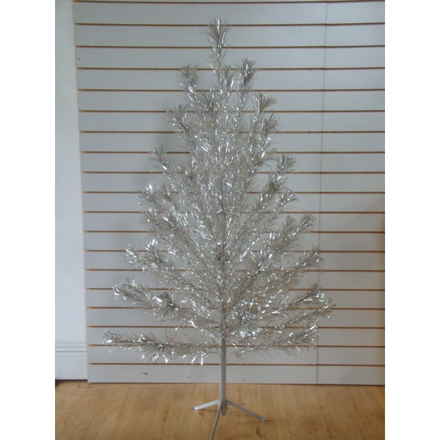 Midcentury Aluminum Pom Pom 6 Foot Christmas Tree For Sale In Richmond - Image 6 of 6