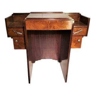 Early 20th Century French Art Deco Writing Vanity Desk For Sale