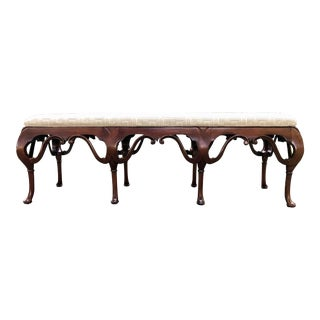 Mahogany Queen Anne Style Bench For Sale