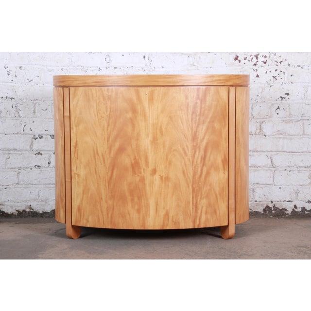 Charles Pfister for Baker Art Deco Primavera Three-Drawer Oval Commode Bachelor Chest For Sale - Image 11 of 13