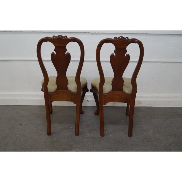 Walnut Georgian Queen Anne Dining Chairs - 6 - Image 4 of 10