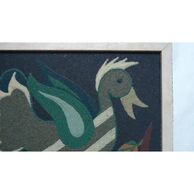 Folk Art Duck Sand Painting - Image 5 of 9