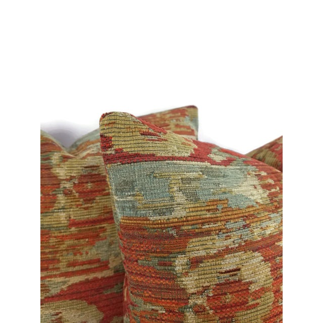 Contemporary Pindler Palette Persimmon Chenille Pillow Cover For Sale - Image 3 of 6
