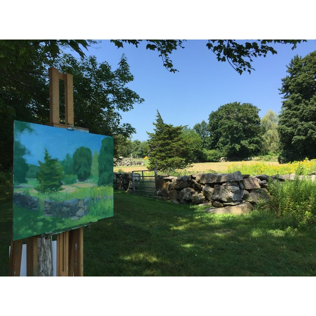 Pastoral Plein Air Contemporary Paintings by Stephen Remick - Set of 3 For Sale In Providence - Image 6 of 13