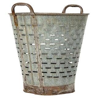 Vintage Mediterranean Rustic Olive Bucket