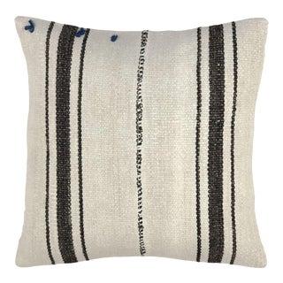 "Organic Hemp Vintage Kilim Pillow   20"" For Sale"