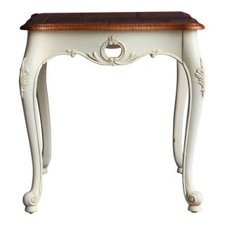 French Provincial Ethan Allen Legacy Carved End Table For Sale