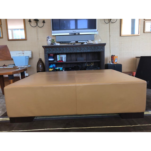 Wood Modern Holly Hunt's Christian Liaigre Galet Ottoman For Sale - Image 7 of 10