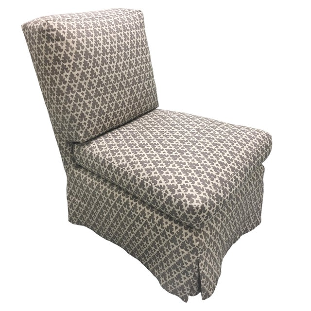 Modern Donghia Billy Baldwin Style Quadrille Upholstered Slipper Chairs - a Pair For Sale - Image 3 of 8