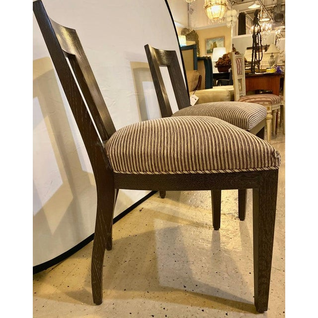 Mid-Century Modern Set Ten Donghia 'Margarita' Design Dining Chairs Pickled Oak, Labeled Donghia For Sale - Image 3 of 12