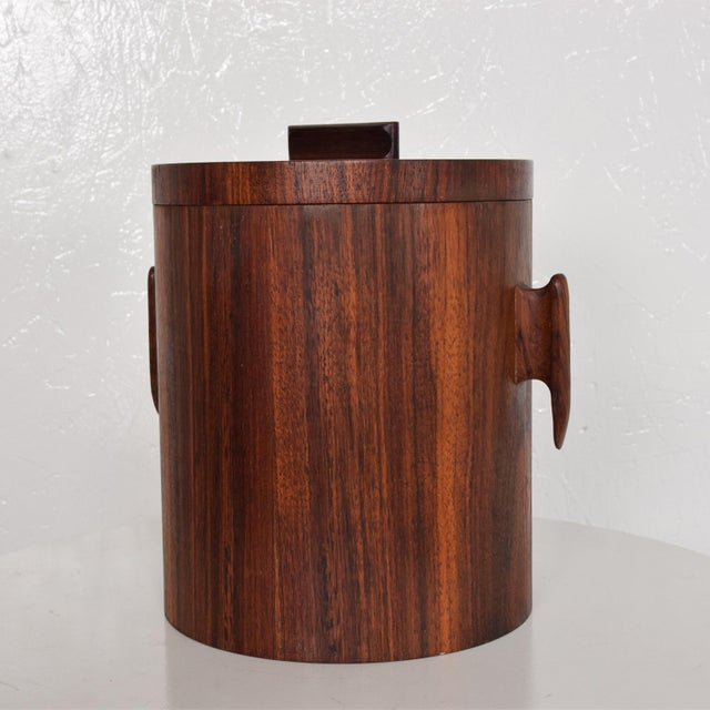 Rosewood Mid-Century Modern Rosewood Ice Bucket For Sale - Image 7 of 11