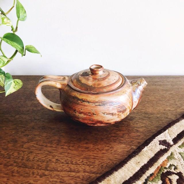 Japanese Vintage Japanese Studio Pottery Stoneware Teapot For Sale - Image 3 of 6