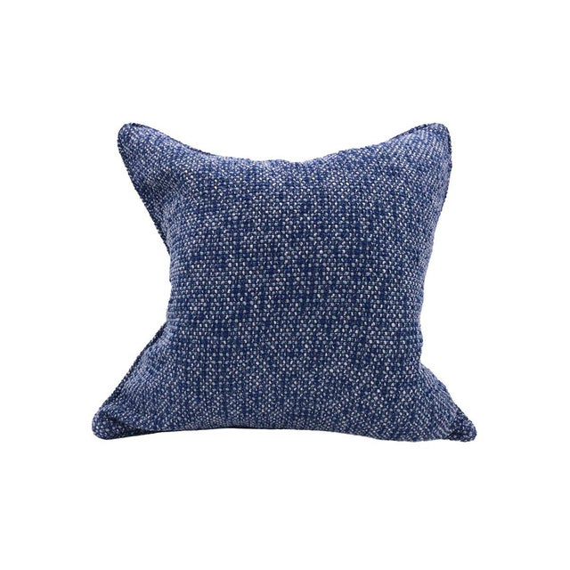 Transitional Scalamandre Torrs Pillow, Ultramarine For Sale - Image 3 of 3