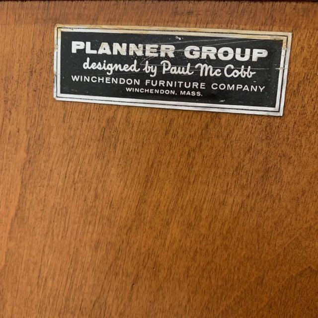 Black Paul McCobb Planner Group Maple Sliding Door Cabinets For Sale - Image 8 of 10