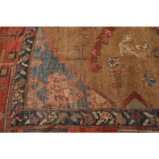 "Textile Vintage Persian Tribal Bakshaish Rug, 8'0"" X 9'6"" For Sale - Image 7 of 12"