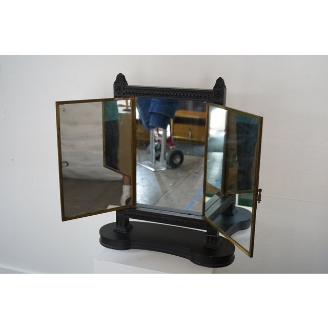 Antique Triptych Mirror For Sale In Nashville - Image 6 of 10