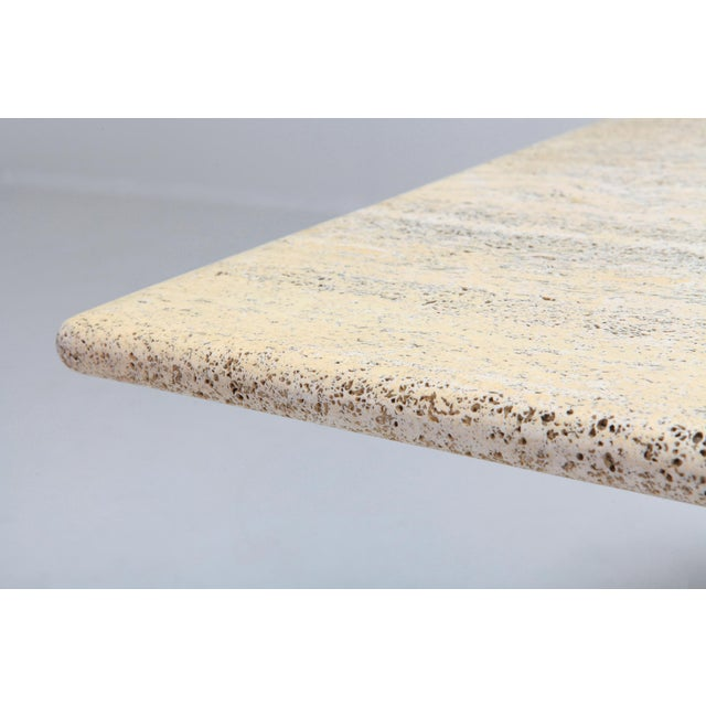 Marble Travertine Dining Table in the Style of Carlo Scarpa and Angelo Mangiarotti For Sale - Image 7 of 11