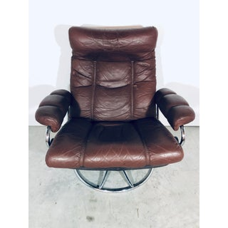 1970s Vintage Ekorness Stressless Reclining Chair and Ottoman Preview