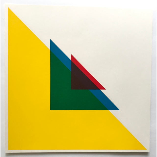 1967 Andreas Christen Geometric Composition Color Silkscreen - Signed For Sale - Image 4 of 5